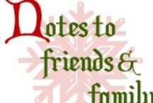 N is for Notes to friends and family / by Anna S