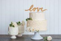 CAKE / Wedding cakes + cake topper inspiration / by Emmaline Bride | Handmade Wedding Blog