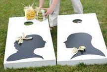 WEDDING GAMES / ENTERTAINMENT / Wedding games, lawn games, entertainment, photo booths, kissing booths, corn toss / by Emmaline Bride | Handmade Wedding Blog