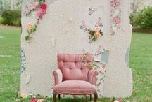WEDDING BACKDROPS / Charming wedding backdrops, ceremony backdrop ideas / by Emmaline Bride | Handmade Wedding Blog