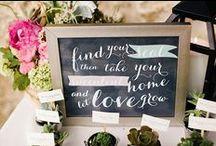ESCORT CARDS / SEATING / Escort cards, seating charts / by Emmaline Bride | Handmade Wedding Blog