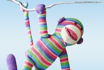 Pier 1 Rainbow Sock Monkey and Fans / by Pier 1 Imports
