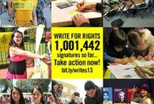 Write For Rights 2013 / Write a letter, Change a life / by Amnesty International