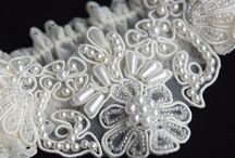 Bridal Garters / our collection of couture bridal garters, handmade in the UK & available to purchase from our online boutique - www.atelier-rousseau.com / by Atelier Rousseau Bridal
