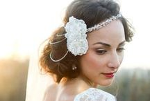 Glam Bridal Headpieces / Gorgeous wedding headpieces, rhinestone tiaras, bridal hair combs, crystal hair pins, birdcage veils, traditional veils, couture hair jewelry and more! / by Advantage Bridal
