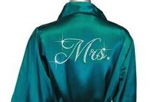 Custom Rhinestone and Embroidered Robes / Plush satin and terry robes  embellished with rhinestone and embroidered designs and personalization / by Advantage Bridal