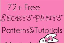 6.Girls Pants & Shorts Tutorials and Patterns / Free patterns & tutorials for girls pants & shorts / by Adam West
