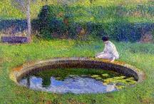 fine art: french / Monet; Vuillard; Bonnard;Dufy; David; Chardin; Watteau; Bouveret; Corot; Duval; Drouais; Greuze; Fragonard; Maufa; Bellange; Degas; Coster; Caillebotte; Renoir and Duran / by Chantel Roux