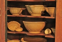 """Yellow Ware / Yellow ware requires a much higher oven temperature than the Redware made by individual farmers on their farms.  """"Published by"""" refers to Sculpture Act of 1797 giving potters exclusive rights to their creative pottery designs. / by Trish Robinson"""