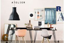 the home office / decor and layouts that will help you to obtain a beautiful and organized office.  / by Heidi Leon Monges