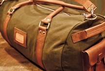 Mens Leather Duffle Bags  / Rugged Leather and Waxed Canvas Duffle Bags, Satchel Bags, Briefcase Bags, and Camel Leather Satchels by Buffalo Jackson Trading Co / by Buffalo Jackson Trading Co