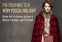 A Very Fossil Holiday Contest / Pin for a Chance to win a $500 Fossil Gift Card to finish your holiday shopping! Details and Entry Form: http://sweeps.piqora.com/fossilholiday / by Fossil