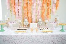 Backrop Ideas: Dessert Tables & Photo Ops / by Courtney Price I Glamour Avenue Parties