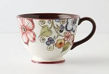 . teacups + tabletops . / teacups, tabletops, vases, place settings, festive table decorations for party ideas....everything that go on tables.  / by Katherine Fedele Dearborn