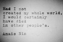 a n a i s.  n i n.   / Anais Nin ~ quotes and images. / by s a r a h .
