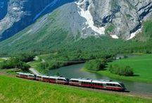 Norway by Rail |  Norway in a Nutshell tour / Norway in a Nutshell tour is the most popular rail tour in Norway, combining spectacular train rides with a fabulous cruise on the Aurland- and Nærøyfjord. Experience the scenic Bergen Railway from Oslo to Myrdal, ride the Flåm Railway, one of the world's steepest railway lines, with twisting tunnels spiraling in and out of the mountains. Across the steep hairpin bends of Stalheimskleiva (May-September) and on the Bergen. Visit fjords, waterfalls, and mountains. The trip runs daily all year. / by Five Stars of Scandinavia, Inc.