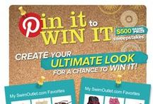 """SwimOutlet.com Pin It to Win It Sweepstakes - $500 Grand Prize! / Ever wanted that underwater MP3 player, the fancy tech suit, or those cute summer dresses? Well, these could all be yours! Enter SwimOutlet.com's """"My SwimOutlet.com Favorites"""" Pinterest Sweepstakes for a chance to $500 to purchase all your favorite items from SwimOutlet.com.  To learn more and enter, go to www.swimoutlet.com/pin-it-to-win-it.  / by SwimOutlet.com"""
