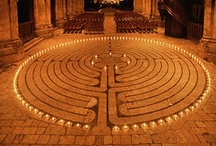 """Walking The Labyrinth / A labyrinth is a symbolic journey...but it is a map we can really walk on, blurring the difference between map and world."""" ~Rebecca Solnit, Wanderlust: A History of Walking / by Debra Eve 