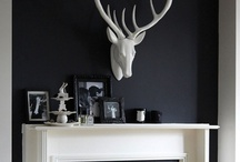 I WILL have a BLACK room / Black is my favorite color.  Used for crown molding, floors, cabinets or walls it can create a dramatic, bold look.  I love it. / by Susan Clickner