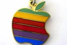 Vintage Apple Computer Jewelry & Pins / Vintage Apple Computer jewelry & pins from the 1980's & 90's featuring the famous Apple company logo. / by chips etc