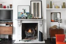 Home - Living Room  / Cool room. Warm fireplace. / by Souris Hong-Porretta