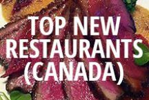 Top New Restaurants in Canada 2013 / The most reviewed, viewed, and liked restaurants in Urbanspoon's top cities who've opened their doors in the past year. / by Urbanspoon
