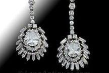 Diamond Drop Earrings / by LangAntiques