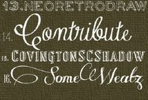 Scrapbooking: Fonts / fonts for journaling and for Cameo'ing / by Oh Yvonne