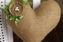 Burlap ideas / by Cindy Dunbar