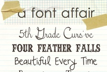 For the love of FONT / by Kristin Catlett