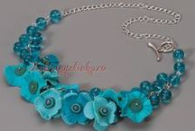 Jewelry creations-clay/mixed media / by Pat Barrows