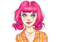 Hair colour & style / by L. J.