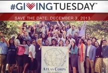 #GivingTuesday (12.3.13) / Coming soon! #GivingTuesday, December 3, 2013 is global day dedicated to charitable giving, harnessing the power of social media and the generosity of people around the world to bring about real change in their communities.  / by Atlas Corps