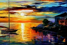 Art of Leonid Afremov / One of my newer and most favorite contemporary artists... / by ~Singing A New Song~