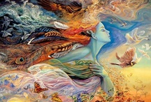 Art of Josephine Wall / I admire and enjoy Josephine Wall's beautiful artwork...hope you enjoy it as well.  / by ~Singing A New Song~