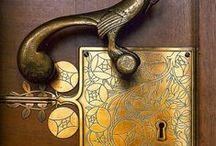 Locks Latches Knobs. VVIINTAGE / vintage knobs / by Margie Barr