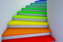 ✘ Stairs / Virtual Post-It Notes ~ Household Stairs Update/Decor Ideas / by Melissa's Attic