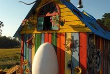 CUTE LIL COOP's / chicken coops / by Margie Barr
