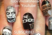 """DARK nail art pictures and tutorials / i like dark art. i like weird art. i love art that doesnt work on nails pushed and made to """"fit"""". i like doing scary art and art that makes go """"huh?"""" it makes me happy. it is unconventional....but it pays my light bill :D i upload new designs every monday, wednesday and friday so subscribe and learn and see new art all of the time. if you copy, please always say who inspired you (for me, all i ask in return for what i teach is for you to say """"inspired by robin moses"""") that helps me get my name out so i can teach full time and it ensures you keep learning art and having fun :D my love and thanks for all helping achieve my goals! :D <3 / by Robin Moses"""