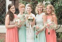 Peach and Mint Wedding / by Weddington Way