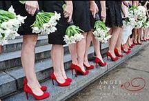 Black & White with Red Wedding / by Weddington Way