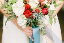 Light Blue and Red Wedding / by Weddington Way