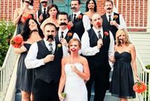 Black and Orange Halloween Wedding / A classy halloween styled wedding complete with black, white, and lapis accents! Embellished with pumpkins, skulls, and dry ice effects. Lastly a halloween candy bar and a crazy fun masks for photos.  / by Weddington Way