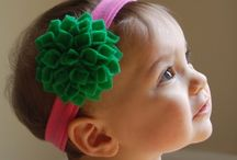 Felt crafts / Ideas for hair accessories for my baby girl / by Rebecca Stone