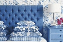 Bedrooms - Now I lay me down to sleep / fabrics - colours - headboards - cozy places / by TimnDeb Grauman