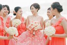 Coral Wedding Inspiration / by Bella Figura Letterpress