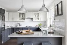 Interiors // Kitchens / by Kate Myhre // Modernly Wed