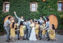 Real Weddings: Patti + Po / Patti and Po had a stunning culinary-inspired wedding at the Culinary Institute of America in St. Helena, California on September 28, 2013. We think our Sunflower color paired beautifully with this cheery and romantic wedding!  Patti's bridesmaids wore our styles in Sunflower.   See more here:  http://www.littleborroweddress.com/wedding/patti-po  / by Little Borrowed Dress