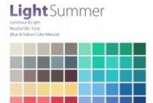 THE Light Summer Color Analysis / This Personal #Color Analysis palatte is lumimous & light with neutral leaning to cool hue, light value and meium chroma. Contact certified color #analyst Lisa K. Ford at www.inventyourimage.com or 813-766-8375. / by Invent Your Image by Lisa K. Ford