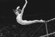 ♥ Love Gymnastics / gym·nas·tics  (jm-nstks) n. 1. a. (used with a pl. verb) Physical exercises designed to develop and display strength, balance, and agility, especially those performed on or with specialized apparatus. / by Pamela Nicholas